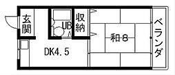宝マンション[3階]の間取り
