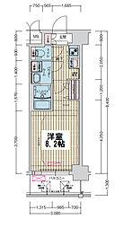 ララプレイス大阪ウエストゲート 7階1Kの間取り