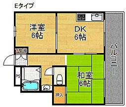 オーシャン住之江[5階]の間取り