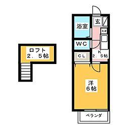 プランドールYAMADA[1階]の間取り