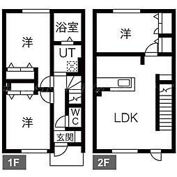 [テラスハウス] 北海道札幌市東区中沼西五条1丁目 の賃貸【/】の間取り