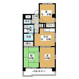 ラ・ネージュIII[4階]の間取り