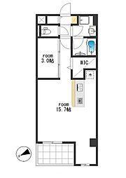 MDL Apartment[201号室]の間取り