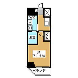 ベルグレードKAMEIDO 7階1Kの間取り