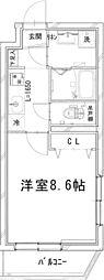 (仮称)四谷サンコーマンション 3階1Kの間取り