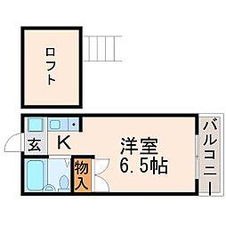 エスケーハイツ[2階]の間取り