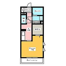 [新築] 東栄町シングル 仮称 2階1Kの間取り