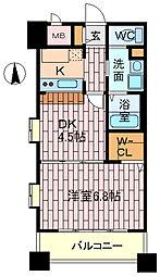 エリジオン[4階]の間取り