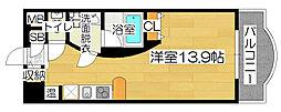 LUMOII天満[8階]の間取り