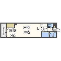 北海道札幌市豊平区平岸一条13丁目の賃貸マンションの間取り