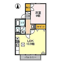 セジュール経堂 A棟[1階]の間取り