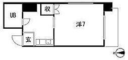 第3中川コーポラス[5階]の間取り