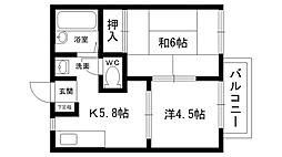 太田ハイツ 南棟[102号室]の間取り