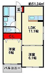 Confort O[2階]の間取り