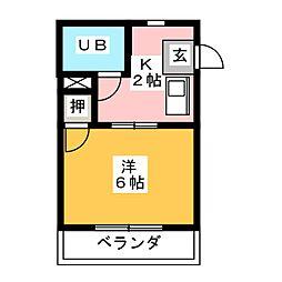 メゾン叶[1階]の間取り