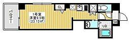 Regulus三ノ輪(レグルスミノワ) 4階1Kの間取り