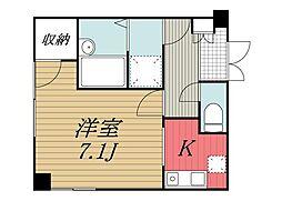 千葉県成田市東町の賃貸アパートの間取り