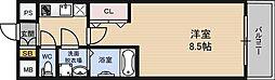 アーバンフラッツ新大阪2[6階]の間取り