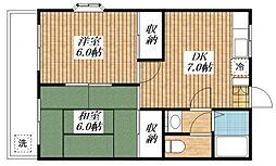 レジデンスクライム[2階]の間取り
