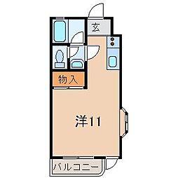静岡県駿東郡長泉町下長窪の賃貸アパートの間取り