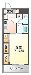 リブリ・江坂[3階]の間取り