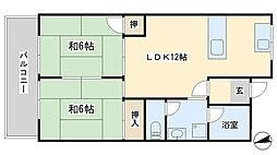 富士見台[304号室]の間取り