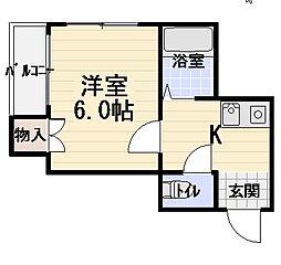 ベル・ハツモト[3階]の間取り