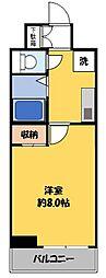 メリックビル2満室1/15[3階]の間取り