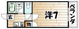 ラガール折尾[303号室]の間取り
