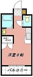 プレアール井堀[102号室]の間取り