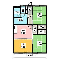 新栄二日市ハイツ[5階]の間取り