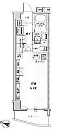 東京都新宿区中落合1丁目の賃貸マンションの間取り