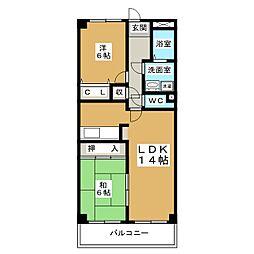 TWINS白壁N棟[2階]の間取り