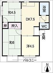 メゾンきんごろー A棟[2階]の間取り