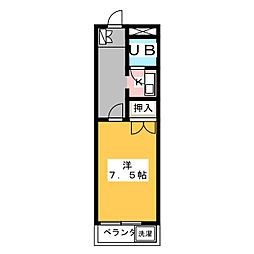 シルクハイム[1階]の間取り