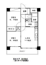 エスタブレ・ヤマキ[0307号室]の間取り