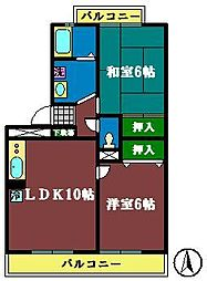 グレース2[2階]の間取り