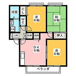 サングレイスA[2階]の間取り