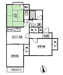 ファミールマンション[3階]の間取り