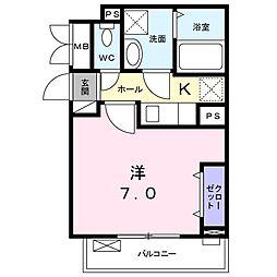 東京都西東京市新町1丁目の賃貸アパートの間取り
