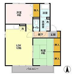 エクレールパレス[2階]の間取り