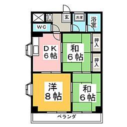 陽だまり川平館[4階]の間取り
