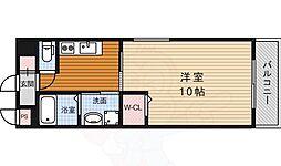 阪急千里線 北千里駅 バス7分 小野原南下車 徒歩4分の賃貸マンション 2階1Kの間取り