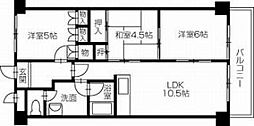 第19柴田マンション[603号室]の間取り