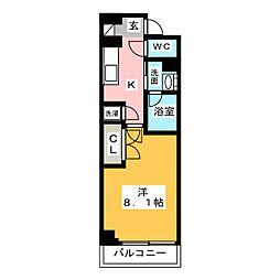 AVANTI aratamabashi[2階]の間取り