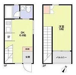 (仮称)M-house 1階1DKの間取り