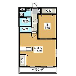 ラ・フェリーチェ[1階]の間取り