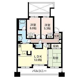 埼玉県さいたま市南区別所5丁目の賃貸マンションの間取り