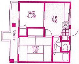 ブルータウンビル[2階]の間取り