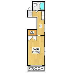 シャイニング桃山[2階]の間取り